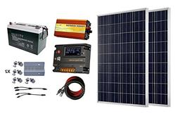 ECO-WORTHY 200 Watt  12V Solar Panel Kit + 100AH AGM Battery