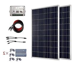 ECO-WORTHY 200 Watts Solar Panel Kit: 2pcs 100W Poly Solar P