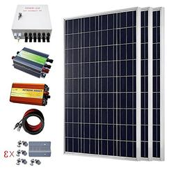 ECO-WORTHY 300 Watt Solar Panel Kit: 3pcs 100W Poly Solar Pa