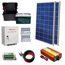 ECO-WORTHY 200W Solar Panel Kit: 2pcs 100W Poly Solar Panel