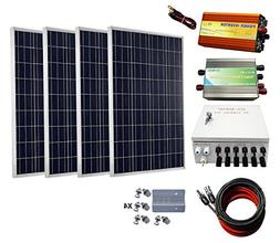 ECO-WORTHY 400 Watts Solar Panel Kit: 4pcs 100W Poly Solar P