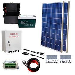 ECO-WORTHY 200 Watts Solar Panel Kit: 2pcs 100W Poly Solar P