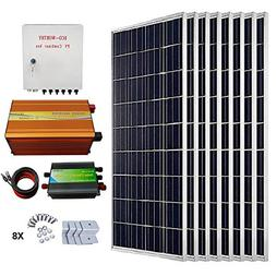 ECO-WORTHY 800 Watts Solar Panel Kit: 8pcs 100W Poly Solar P