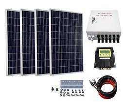 400 Watts Solar Panel Kit: 4pcs 100W Polycrystalline Solar P