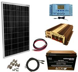 WindyNation 100 Watt Solar Panel Kit + 1500W VertaMax Power