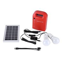 Acogedor Solar Panel Lighting Kit Portable Power Station,S