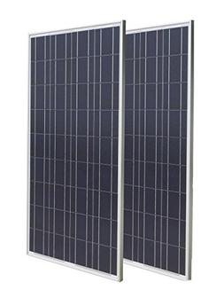 ECO-WORTHY 2pcs 100 Watts Solar Panel Module 12V Battery Cha