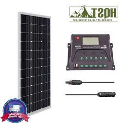 HQST Solar Panel 100 Watt Mono Bundle Kit 12V RV Boat 100W O