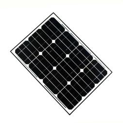 ALEKO Solar Panel Monocrystalline 30W for any DC 12V Applica