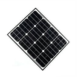 Aleko Solar Panel - Monocrystalline - 12V - 100W