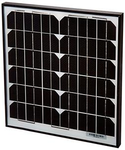 ALEKO Solar Panel Monocrystalline 15W for Any DC 12V Applica