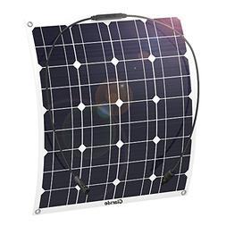 GIARIDE 50W 18V 12V Solar Panel Monocrystalline Cell Flexibl
