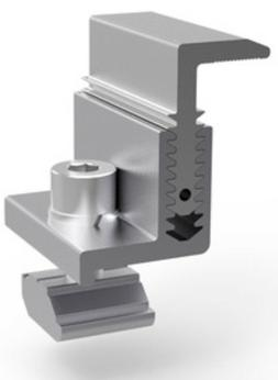Solar Panel Mounting Brackets-Adjustable End Clamp