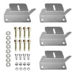 HQST Solar Panel Mounting Z Brackets with Nuts and Bolts - 4