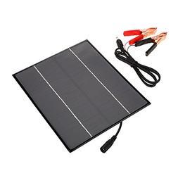 VGEBY Solar Panel Multi-function Solar Panel Charger 12V 6W