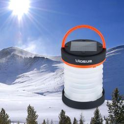 Suaoki Solar Panel Outdoor Camping LED Lantern Flashlight Li