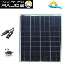 Mighty Max Battery 80 Watts Solar Panel 12V Poly Off Grid Ba