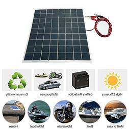FidgetFidget Solar Panel Poly Off Grid For Battery Charge 30