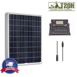 NEW HQST Solar Panel 100 Watt Poly Bundle Kit 12V RV Boat 10