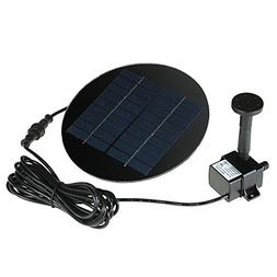Anself Solar Panel Power Fountain Submersible Brushless Wate