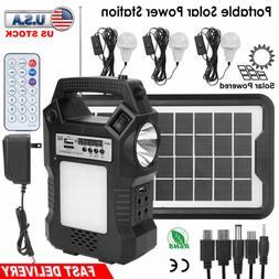 Solar Panel Power Generator Kit Portable Battery Pack Power