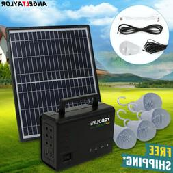 Solar Panel Power Generator Kit | Portable Battery Pack Powe