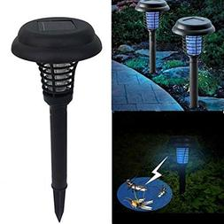 Pack of 2 Solar Panel Powered 2 Modes Rechargeable Light Sen