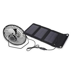 Vbestlife Solar Panel Powered Fan 5W 5.5V Mini Portable USB
