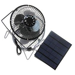 NUZAMAS 3.5W 6V Solar Panel Powered 6 Inch Fan for Camping C