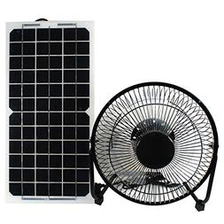 GOODSOZ 10W 12V Solar Panel Powered Fan Ventilator for RV Tr