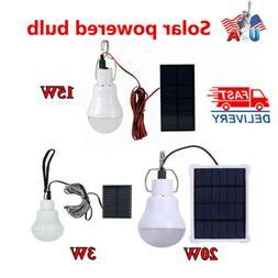 Solar Panel Powered LED Lights Bulb Light  Tent Lamp Yard Ca