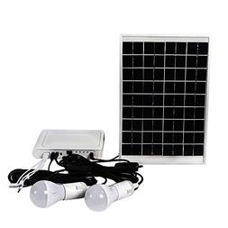 ECO-WORTHY 10W Solar Panel Powered LED Lighting System 2 LED