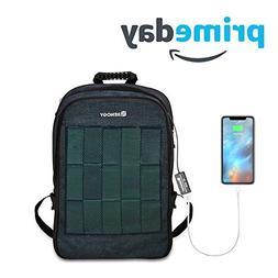 Renogy Solar Panel Powered Backpack Water Resistant Laptop B