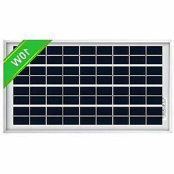 ECO-WORTHY 10W Solar Panel 10 Watt 12 Volt Pv Solar Module,