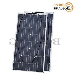 BOGUANG 2 pcs 100w Solar Panel semi flexible 200W solar syst