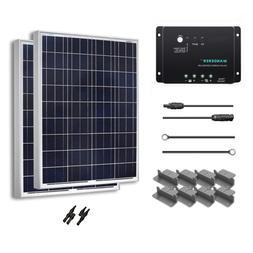 RENOGY Solar Panel Starter Kit 200W Poly: Two 100W Poly Pane