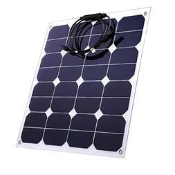 50W Solar Panel Sunpower 18V 12V Lightweight Bendable Semi F