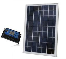 ECO LLC 25W 12V Solar Panel System Kit Include 1pc 20A PWM C