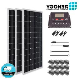 Renogy 300W Mono Solar Panel Starter Kit 30A LCD Controller