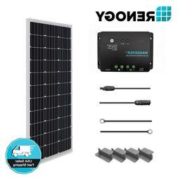Renogy 100W 12V Solar Panel Starter Kit 30A Controller Off G