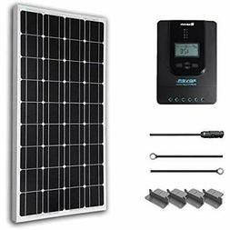 Solar Panels 100 Watt 12 Volt Monocrystalline Starter Kit Wi