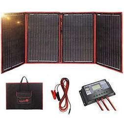 Solar Panels 200 Watts 12 Volts Monocrystalline Foldable Wit