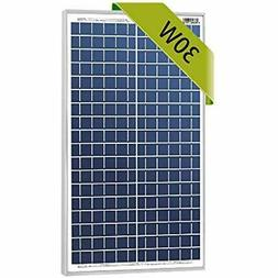 30w Watts 12v Poly Solar Panel Module Rv Marine Boat Off Gri
