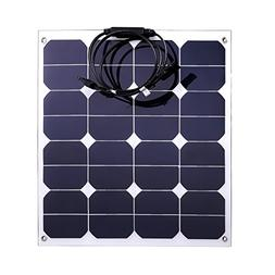Jannyshop 18V 50W Flexible Solar Panel Solar Charger with Ca