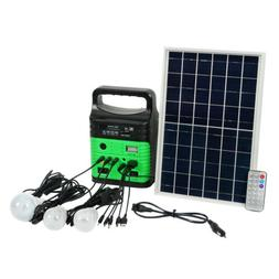 Solar Panels Charging Generator Power System Kit Outdoor USB