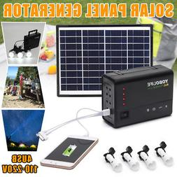 Solar Panels Energy Generator Power System USB Charging Home