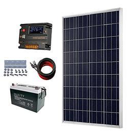 ECO-WORTHY 100 Watt 12V Solar Panels Kit + 20A Charge Contro