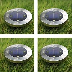 Solar Pathway Light, Round Shape Waterproof Uplighting For O
