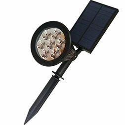 Solar Pathway Up Lights 7 LED Lawn SpotLight Color Changing
