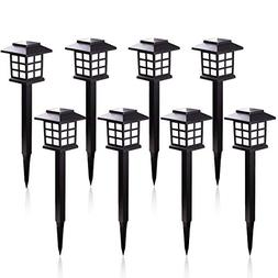 KODOO 8Pack Solar Pathway Lights Outdoor, Outdoor Garden Lig